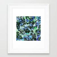 david fleck Framed Art Prints featuring Crystal Fleck by Mia Felce