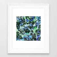 jay fleck Framed Art Prints featuring Crystal Fleck by Mia Felce