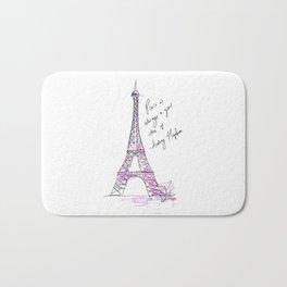 Eiffel Tower: Audrey Hepburn Bath Mat