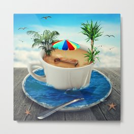 summer holiday cup Metal Print