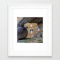 david olenick Framed Art Prints featuring David by Luis Alvarenga