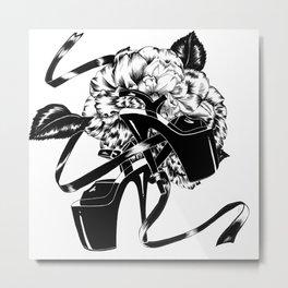 Dancing Shoes (Black) Metal Print
