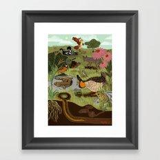 Ecosystem: Prairie Framed Art Print