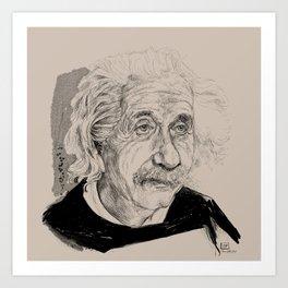 Albert Einstein (scientist) Art Print