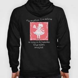 Alice in Wonderland White Silhouette With Vines Hoody