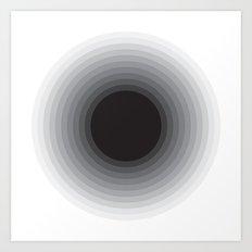 BLACK STAR Art Print