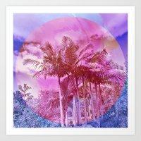 palm trees Art Prints featuring Palm trees by Lara Gurney