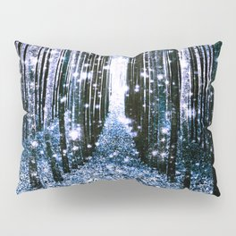 Magical Forest Dark Blue Elegance Pillow Sham