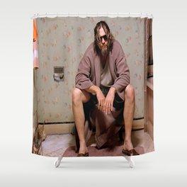 The Dude - Big Lebowski Movie Poster - Funny Bathroom Art, Bathroom Print,Funny Gift Shower Curtain