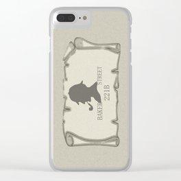 Sherlock Holmes Clear iPhone Case