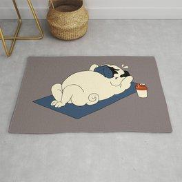 Pug Ab Crunches Rug