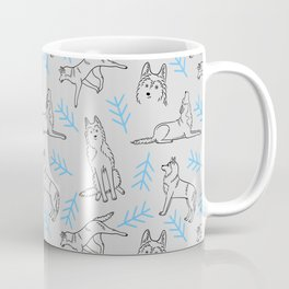 Siberian Husky Pattern (Light Gray) Coffee Mug