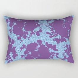 bouquet silhouette on light blue Rectangular Pillow