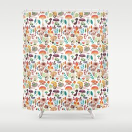 Mushroom heart Shower Curtain
