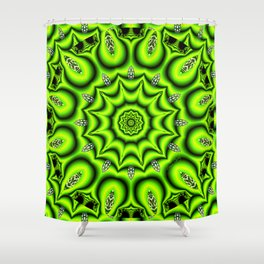Spring Garden Mandala, Abstract Star Burst Delightful Spirals Shower Curtain
