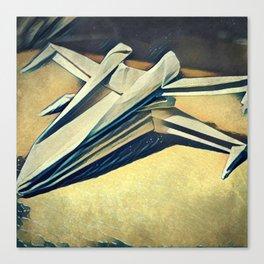 Paper Fold - Cold tones Canvas Print