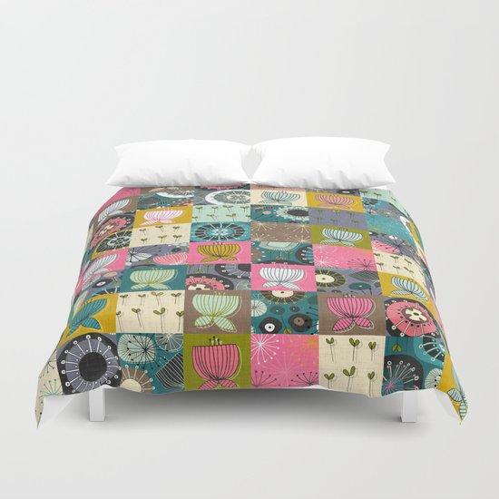 blooms patchwork Duvet Cover
