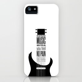 Lab No. 4 - Guitarist Inspirational Music Quotes Poster iPhone Case