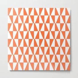 Mid Century Modern Geometric 313 Orange Metal Print