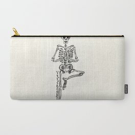 """Vrksasana"" Skeleton Print Carry-All Pouch"