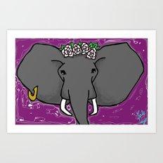 A Purple Elephant Art Print