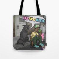 odd future Tote Bags featuring Tyler, The Creator of Odd Future OFWGKTA by Donta Santistevan