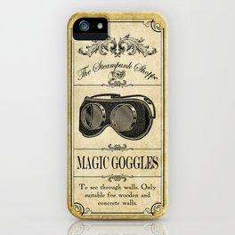 Steampunk Apothecary Shoppe - Goggles iPhone Case
