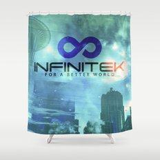 E Needle Infinitek Headquarters Seattle Shower Curtain