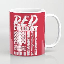 Navy Red Friday Remember Deployed Coffee Mug