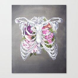 Floral Ribcage Canvas Print
