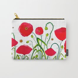 Flower#1 - Red Poppies Carry-All Pouch