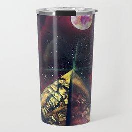 Three Red Sisters Galaxy  Spray Painting Travel Mug