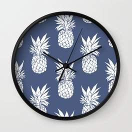 Pineapple Blues Wall Clock