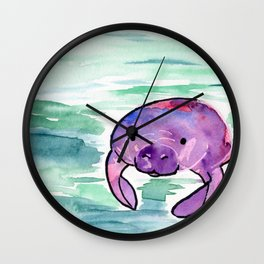 Manatee Lives in the Sea Wall Clock
