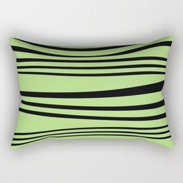 Stripes wave Graphic green Rectangular Pillow