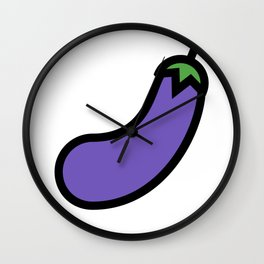 Eggplant Lover Design Cute And Funny Food Gift Idea Wall Clock