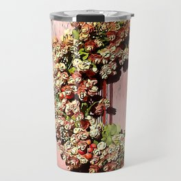 Fall Wreath on Door Travel Mug