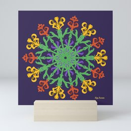 """Chega de Saudade"" (Ultravioleta) Mini Art Print"