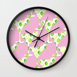 margarita pink Wall Clock