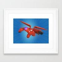 big hero 6 Framed Art Prints featuring Baymax Big Hero 6 by ZariusArts