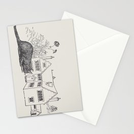 Johnny Crow's garden a picture book - L. Leslie Brooke - 1903 vintage Line Drawing Cat House Stationery Cards