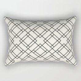 Simply Mod Diamond Black and Cream Rectangular Pillow