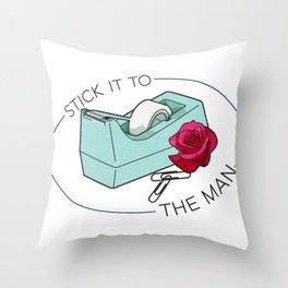 Stick It To The Man Throw Pillow