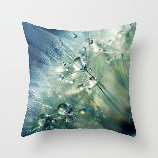 Dandelion Drama Throw Pillow