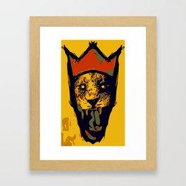 King Lion R E M I X Framed Art Print