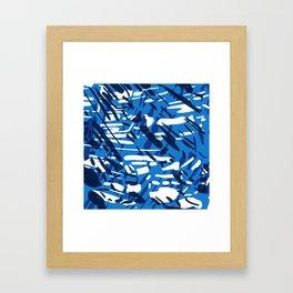 Blue is the New Black Framed Art Print
