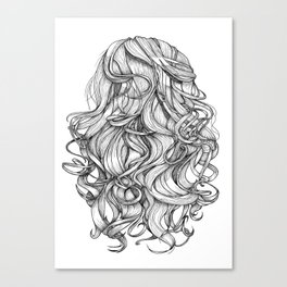 Perfect Curls Canvas Print