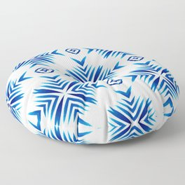 Shibori Blue Watercolour No.15 Floor Pillow