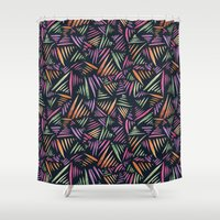 india Shower Curtains featuring India Flecks by Charlotte Harrison