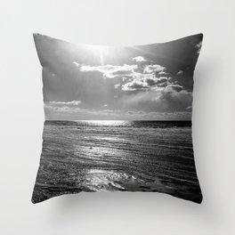 Sun on ice Throw Pillow